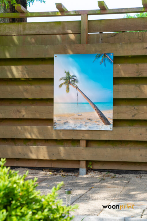 Tuinposter-Palmboom-Schommel