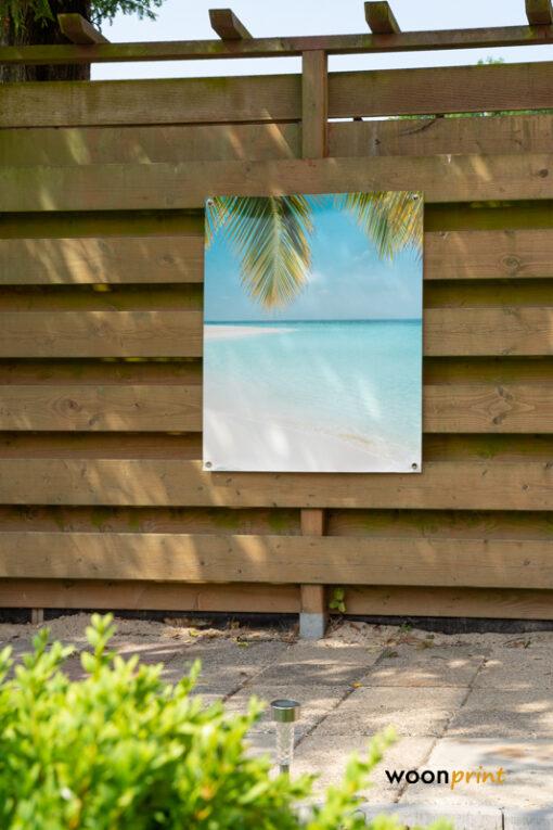 Tuinposter-Parelwit-Tropisch-Strand