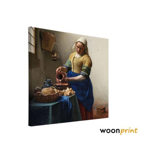 melkmeisje-vermeer-canvas-vierkant